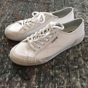 HUF classic low shoe white leather size 7